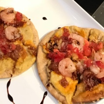 Tapas Chorizo Shrimp Flatbread vomFASS Cooking Class Mall of America
