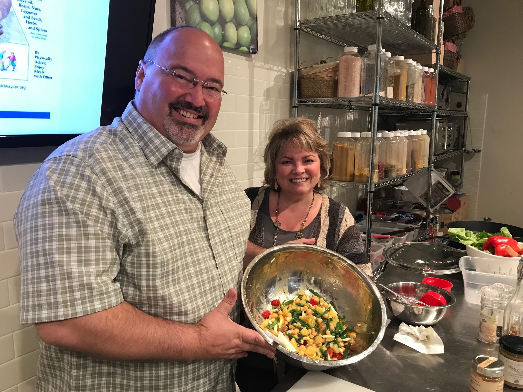 Mediterranean Diet Cooking Class vomFASS Mall of America Mark Kathy