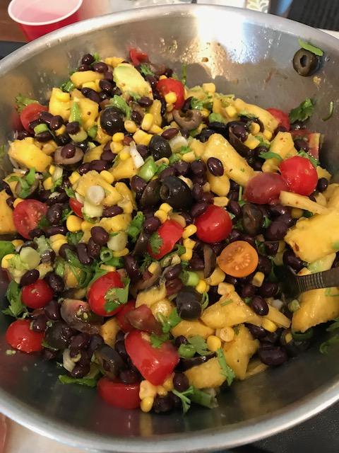 Black Bean Salsa vomFASS Cooking Class Mall of America Minnesota Food